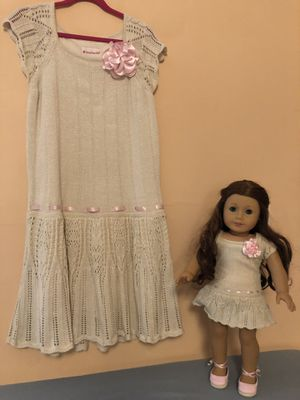American Girl doll with matching dress for child for Sale in Miami, FL