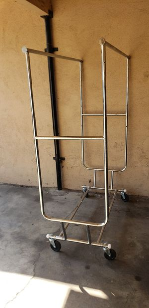 Double rolling clothing rack for Sale in Los Angeles, CA