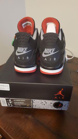 Nike Air Jordan IV Bred - Size 8 - 100% Authentic for Sale in Pennington, NJ