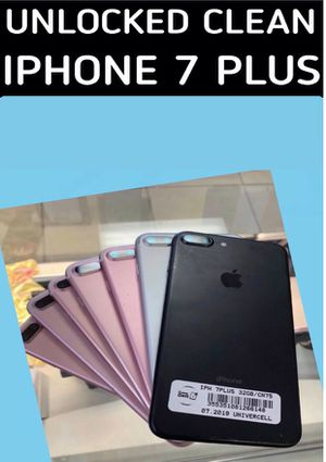IPHONE 7 plus unlocked for any carrier clean with warranty for Sale in Tampa, FL