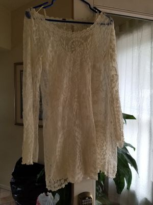 Free people white dress for Sale in East Gull Lake, MN