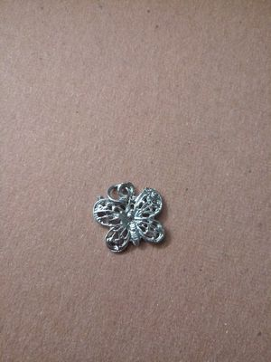 Silver butterfly charm pendant for Sale in OR, US