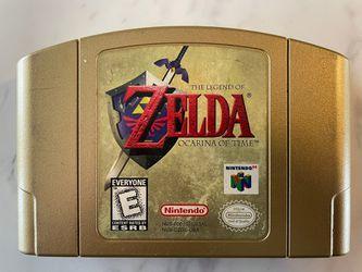 The Legend Of Zelda Ocarina Of Time Gold Cartridge  for Sale in Oakland Park, FL
