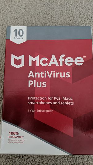 McAfee Antivirus Plus for 10 devices for Sale in Santa Clara, CA