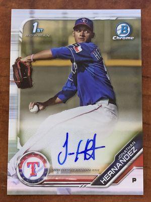 2019 Bowman Chrome Prospects Autographs - Jonathan Hernandez #CPA-JH Baseball Card for Sale in Seymour, CT