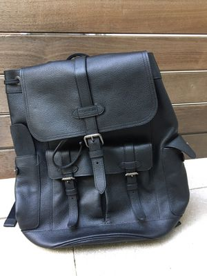 NEW Coach Hudson Men's Black Leather Backpack for Sale in Nashville, TN
