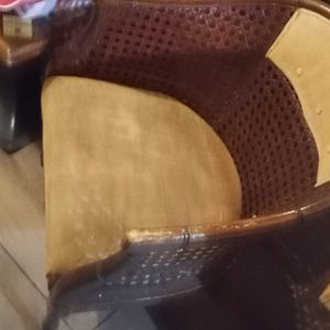Antique Style Wood And Fabric Chair Great Condition for Sale in Fort Lauderdale, FL