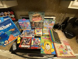 Kids toys, games, puzzles, coloring books, legos and board game for Sale in Houston, TX