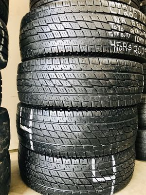 Four 265/70/18 10 Ply Toyo All Terrain Truck Tires for Sale in Covington, KY