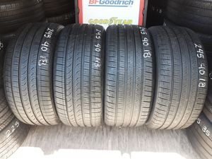 4 USED TIRES 245 40 18 PIRELLI CINTURATO P7 95% TREAD $160 ALL 4 INSTALLED AND BALANCED for Sale in San Diego, CA