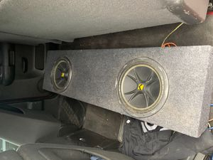 """2 12"""" competition kickers in a sealed box for Silverado $250 for Sale in Riverside, CA"""