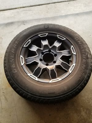 Toyota wheels and tires w/ general grabber for Sale in West Covina, CA