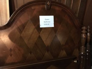 Queen Oak Bedframe for Sale in Watervliet, MI