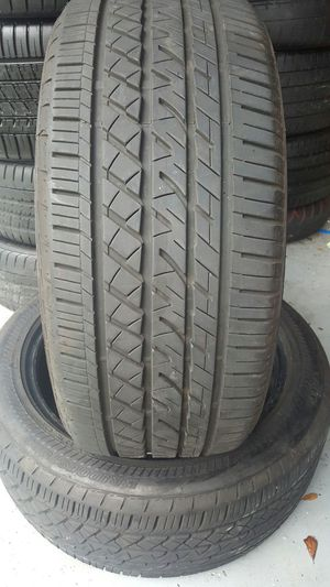 (2) 245/45/18 BRIDGESTONE 100% TREAD for Sale in Tampa, FL