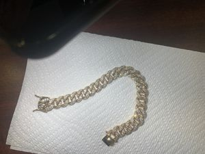 Iced out gold bracelet for Sale in Manchester, CT