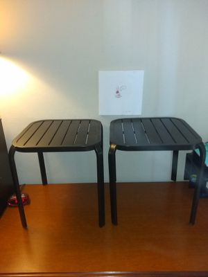 2 Patio End Tables Great shape for Sale in Clearwater, FL