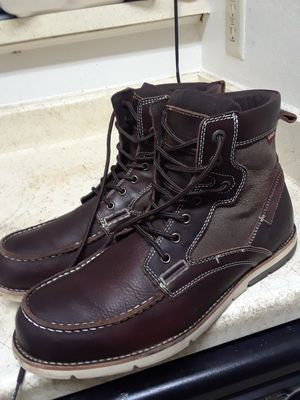 Size 13 LEVI'S MEN'S LEATHER BOOTS IN EXCELLENT CONDITION. BARELY USED IT. for Sale in Dallas, TX