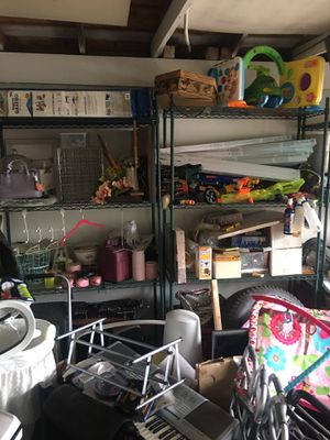 Very nice Metro green epoxy metal shelving!!!! for Sale in Diamond Bar, CA
