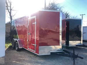 Two tone red and black enclosed trailers 7x16 for Sale in DeSoto, TX