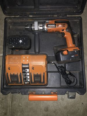 """Rigid 18 volt 1/2"""" (13mm) 2 speed hammer drill/ driver for Sale in Algonquin, IL"""