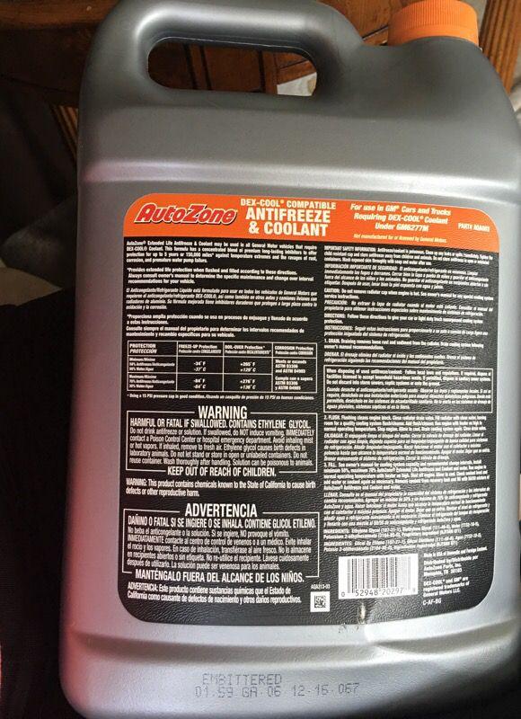 AutoZone Antifreeze   Coolant for Sale in Cerritos da549a589e1