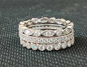 925 Sterling Silver CZ Eternity Stackable Bands for Sale in Wichita, KS