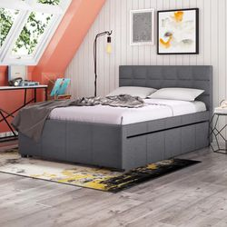*Brand new* Best Quality Furniture Full Size Bed Frame With Twin Trundle (Mattresses Available!) for Sale in Dublin,  OH