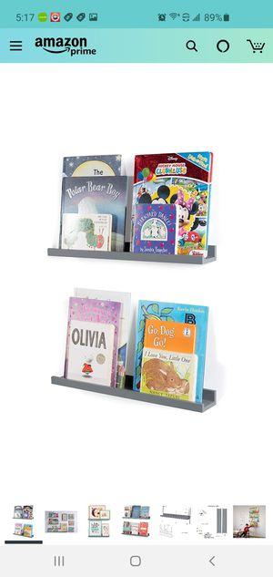 Floating Shelves Bookshelf Wall Decor Gray Picture Ledge Shelf Set of 2 for Sale in Winchester, CA