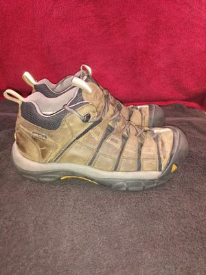 Keen 0808 Brown Leather Lace Up Keen Dry Shoes Size 10 US, UK 9 for Sale in Dallas, TX