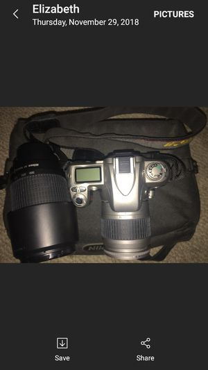 Nikon N75 SLR 35mm with two lenses for Sale in Houston, TX