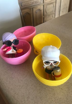 LOL Dolls in Lot of 2 dressed with cup and glasses ready for the Easter Basket for Sale in Scottsdale, AZ