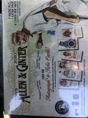 Allen & Ginter 2020 1 box - 7 packs + 1 extra of baseball cards for Sale in Simpsonville, SC