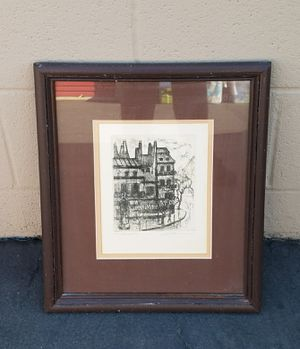 ART - Artist's Proof - Etching - Gallery Local to Southern California - signed, numbered for Sale in Riverside, CA