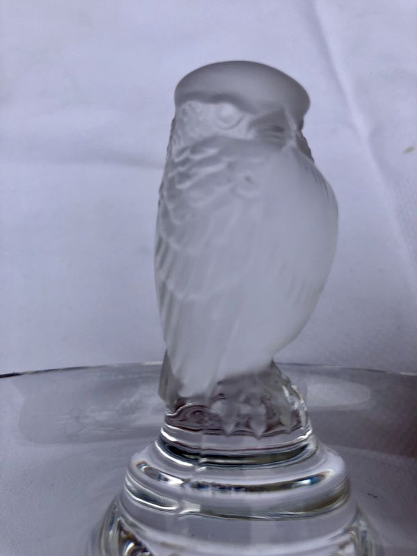 CRYSTAL OWL LALIQUE FIGURE - MADE IN FRANCE