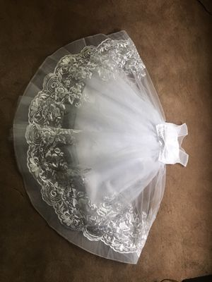 Flower girl or mini bride dress and shoes for Sale in Dearborn Heights, MI