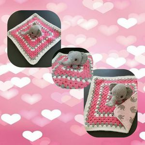 Crocheted Elephant Baby Lovey for Sale in Sutherland, VA