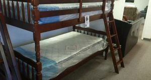 Brand new twin over twin bunk bed with 2 mattresses for Sale in Silver Spring, MD