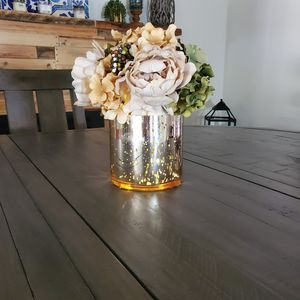 Pier1 glass faux flower vase led light up for Sale in Scottsdale, AZ