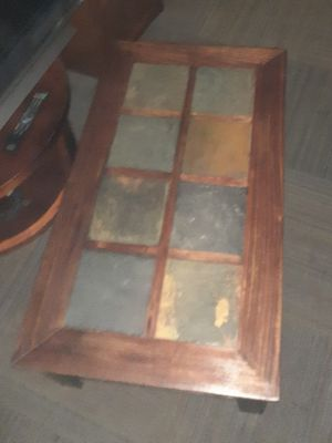 Coffee table and 2 end tables just stained and clear glosses 2 months ago for Sale in Phoenix, AZ