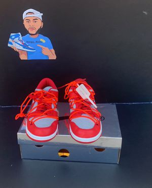 Off white university red dunk size 8.5 for Sale in Odessa, TX