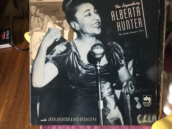 Old album of Alberta hunter, famous jazz and blues singer