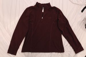 The North Face pullover hoodie jacket maroon size large for Sale in Herriman, UT