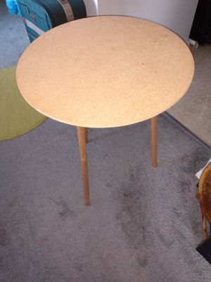 Small round table 3 legs glass top 20 W 26 H for Sale in Alexandria, VA