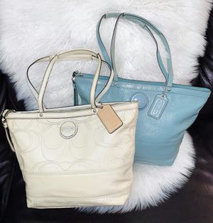 Set of 2 Authentic Coach Tote Bags (together only) for Sale in Chandler, AZ