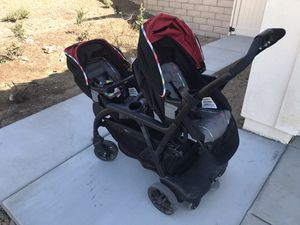 Graco click connect system double stroller for Sale in Riverside, CA