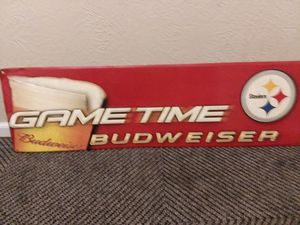RED BUDWEISER STEELER SIGN for Sale in Monroeville, PA