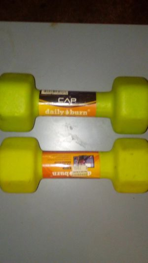 Green 5 lb weights set of one for Sale in Modesto, CA