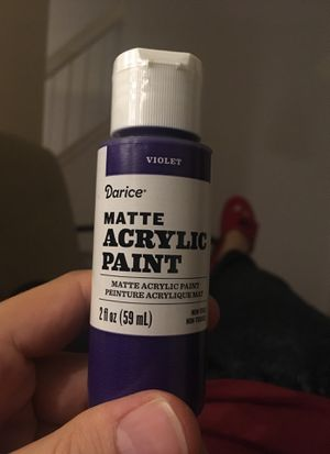 Darice Matte Acrylic Paint Violet 2ft oz 59mL non-toxic X 25 items for Sale in MONTGOMRY VLG, MD