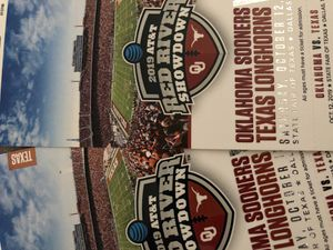 Texas vs Oklahoma red river showdown tickets for Sale in Fort Worth, TX