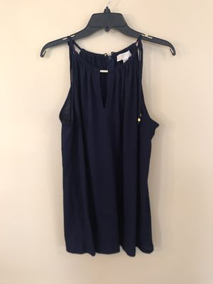 NWT Michael Kors navy blue gold halter top large for Sale in Franklin, TN